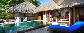 hotel avec piscine dans la chambre hotel bora bora le méridien hébergement bungalow plage