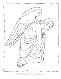 coloring page angel visits joseph coloring pages of angels free printable angel coloring pages angels