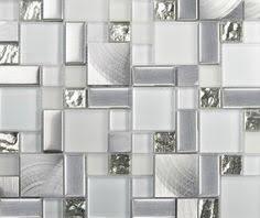 black silver glass mosaic kitchen wall tiles backsplash sgmt165