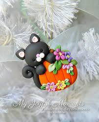 handcrafted polymer clay cat with by myjoyfulmoments