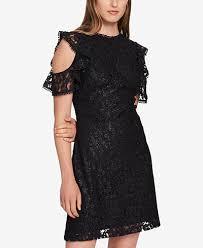 cold shoulder dress hilfiger cold shoulder glitter lace dress created for