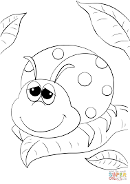 cute cartoon ladybug coloring page free printable coloring pages