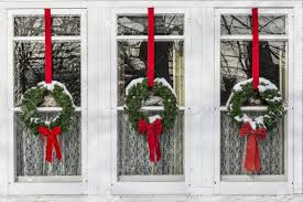 new year nature wreath window decoration winter