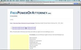 Motor Vehicle Power Of Attorney Form by How To Fill In A New Jersey Power Of Attorney Form Youtube