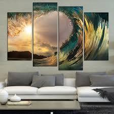 online get cheap ocean waves wall canvas art sets aliexpress com