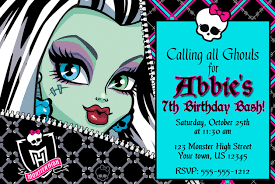 monster high birthday invitation image collections invitation