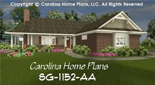 small brick ranch style house plan sg 1152 sq ft affordable