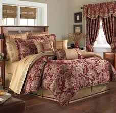 new croscill mystique claret red gold reversob e comforter only