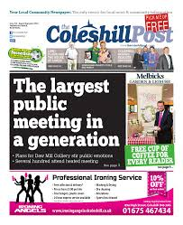 the coleshill post august september 2014 issue 14 by the coleshill