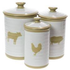 stoneware kitchen canisters essential home kitchen canister sets ebay