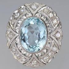 art deco aquamarine ring ebay