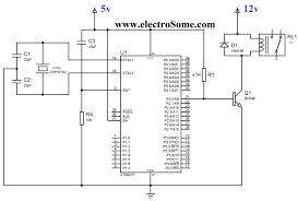 interfacing relay with using keil c at89c51 transistor circuit