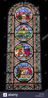 stained glass window noah the ark and the flood by alfred