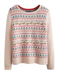 christmas tree jumper with lights joules womens christmas intarsia jumper light grey if you re