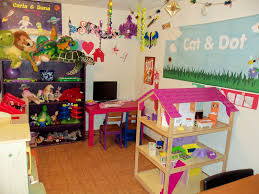 amusing fun playroom ideas for kids with white paint wall and
