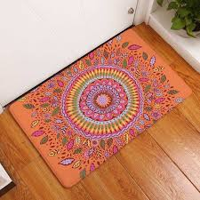 Geometric Kitchen Rug Welcome Floor Mat Geometric Printing Flannel Carpet For Living