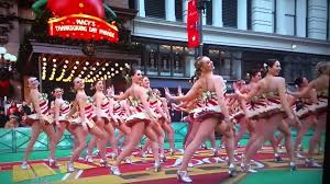the rockettes at the thanksgiving day parade in ny