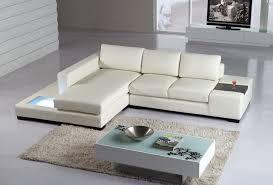 Modern Leather Sectional Sofa T35 Mini Modern Leather Sectional Sofa