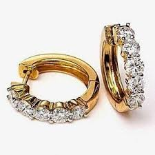 gold erring facetzinspire diamond gold earring gold earrings homeshop18