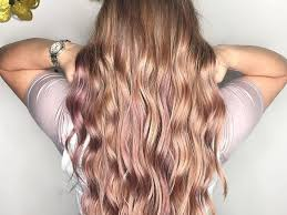 rose gold hair color soft rose gold is the perfect fall hair color update glamour