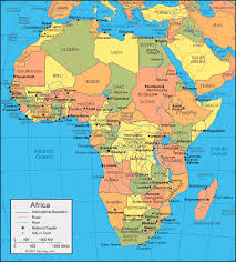 the map of africa africa map and satellite image