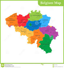World Map Belgium by The Detailed Map Of The Belgium With Regions Or States And Cities