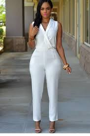 all white jumpsuits all white casual jumpsuits trendy clothing for 2017 baggage