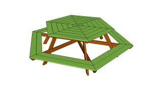 impressive hexagonal picnic table plans 63 on attractive side