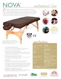 oakworks proluxe massage table nova portable massage oakworks pdf catalogues documentation