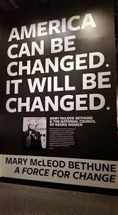A quote from Mary McLeod Bethune founder of the National Council