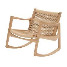 fauteuil en corde euvira fauteuil à bascule classicon ambientedirect com