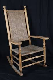 Rocking Chair Antique Styles L1 Antique American Mottville Style Rocking Chair Woven Splint