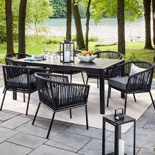 Black And White Patio Furniture Interesting Decoration Black Patio Furniture Cheerful Best 25