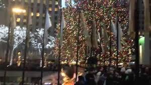 rockefeller center christmas tree in new york city dec 2014 youtube