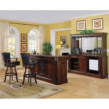 monticello home bar set distressed walnut eci furniture
