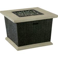 shop allen roth somersville 34 5 in w 50 000 btu brown wicker