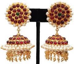 kempu earrings kempu pearl jhumki earrings jmk2530r kalanjali collections