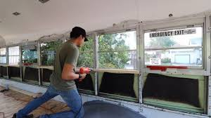 skoolie conversion skoolie bus conversion wall framing part 1 youtube