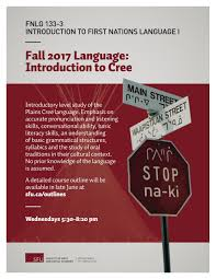 Introduction 2017 Fall Fnlg 133 3 Introduction To Cree Department Of