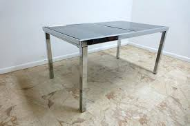 vintage glass top dining table vintage mid century chrome glass dining room table set vintage glass