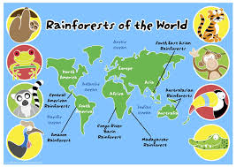 Amazon River On World Map by Rainforests Of The World Map Pack Pcr00954 Grp Primary