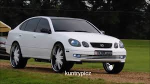 white lexus gs 300 white lexus on white 6s borghini wheels youtube