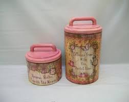 pink canisters kitchen pink canisters etsy