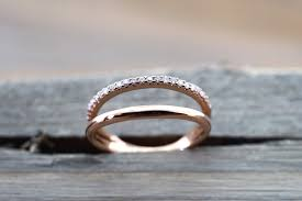 open wedding band 14k gold band and diamond ring wedding band row curve