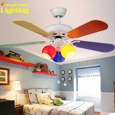 Colorful Children Kids Room Ceiling Fan With Lights Fans Wood - Kids room ceiling fan