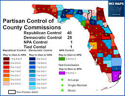 Map Florida Counties by How Florida Democrats Fared In 2014 U2032s Local Elections U2013 Mci Maps