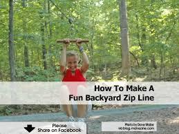 diy backyard zip line home design inspirations