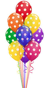 polka dot balloons bright colored balloons with white polka dots festive lively