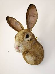 paper mache rabbit pin by multo on panther room props paper mache