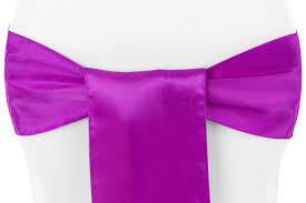 Chair Tie Backs Wholesale Standard Size Satin Sashes Cv Linens